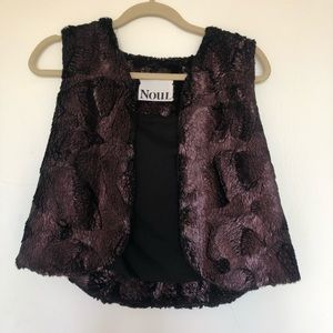 Purple Oak & Fort faux fur vest, size small